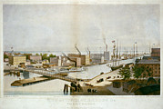 Sailing Ships Prints - The City Of Chicago In 1861. Chicago Print by Everett