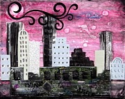 Subway Mixed Media - The City of Ideas by Heather Saulsbury