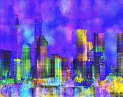 Cityscape Digital Art - The City  Sydney by Kurt Van Wagner