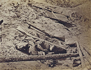 Candids Framed Prints - The Civil War, Dead Confederate Soldier Framed Print by Everett