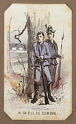 War Drawing Prints - The Civil War, Life In Camp, A Shell Print by Everett