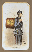 War Drawing Framed Prints - The Civil War, Life In Camp, Drummer Framed Print by Everett