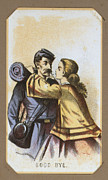 1860s Posters - The Civil War, Life In Camp, Good Bye Poster by Everett
