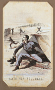 War Drawing Framed Prints - The Civil War, Life In Camp, Late For Framed Print by Everett