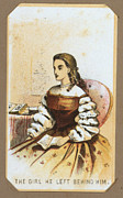 War Drawing Prints - The Civil War, Life In Camp, The Girl Print by Everett