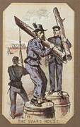 War Drawing Prints - The Civil War, Life In Camp, The Guard Print by Everett