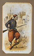 War Drawing Prints - The Civil War, Life In Camp, The Rifle Print by Everett