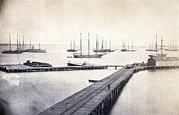 Ships And Boats Prints - The Civil War, Magazine Wharf Print by Everett