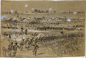 War Drawing Prints - The Civil War, Scene Of The Explosion Print by Everett