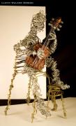 Classical Music Sculptures - The Classical Guitarist by Lloyd  Walker