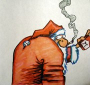 Santa Claus Mixed Media Originals - The Claus by Michael Toth