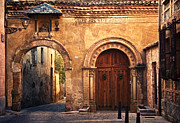 Old Street Metal Prints - The Claustra Gate in Segovia Metal Print by Levin Rodriguez