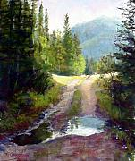 Colorado Pastels Posters - The Clearing Poster by Mary Giacomini
