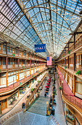 Flag Of Usa Prints - The Cleveland Arcade I Print by Clarence Holmes