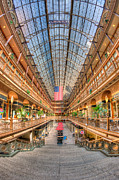 Flag Of Usa Prints - The Cleveland Arcade II Print by Clarence Holmes