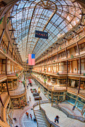 Flag Of Usa Prints - The Cleveland Arcade IV Print by Clarence Holmes
