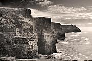 Rugged Photo Prints - The Cliffs of Moher Print by Robert Lacy