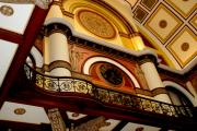 Union Station Photos - The Clock in the Union Station Nashville by Susanne Van Hulst