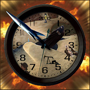 The Clock Is Ticking Print by E  Kraizberg