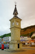 Esplanade Outdoors Posters - The Clock Tower at Shanklin Poster by Rod Johnson