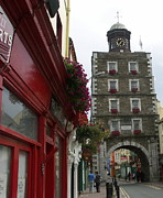 Clocktower Prints - The clock tower Youghal Print by Eva Ason
