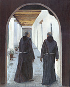 Santa Barbara Paintings - The Cloister by Peter Worsley
