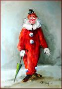 Italian Landscapes Paintings - The clown by Rangi Sergio
