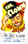 Skelton Framed Prints - The Clown, Red Skelton, 1953 Framed Print by Everett