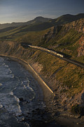Public Transportation Posters - The Coast Starlight Train Snakes Poster by Phil Schermeister