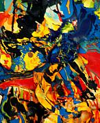 Abstract And Or Expressionistic Work - The Coat Of Many Colors Dances by Charles Peck