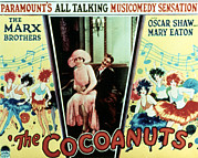 1920s Fashion Prints - The Cocoanuts, Margaret Dumont, Groucho Print by Everett