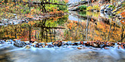 Shenandoah Valley Framed Prints - The Color Dam Framed Print by JC Findley