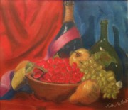 Wine-bottle Pastels - The Color of Flavor by Nicholas Mufalli