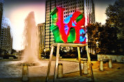 Love Statue Prints - The Color of Love Print by Bill Cannon