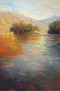 Smoky Mountains Paintings - The Color of Water by Jonathan Howe