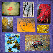 Tree Leaf Digital Art Framed Prints - The Colors of Fall Framed Print by Bill Cannon