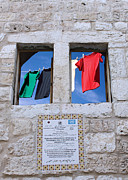 Old Building Framed Prints - The Colors of Flag Framed Print by Munir Alawi