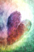 Hearts Digital Art - The Colors of Her Heart by Linda Sannuti