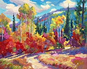 Pathway Paintings - The Colors of New Hampshire by David Lloyd Glover