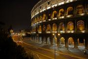 Art Roman Posters - The Colosseum At Night Poster by Stephen Alvarez