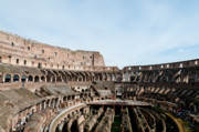 Gladiator Framed Prints - THE COLOSSEUM colosseo ruins of the gladiators stadium rome italy Framed Print by Andy Smy