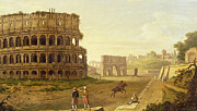 Outdoor Theater Framed Prints - The Colosseum Framed Print by John Inigo Richards