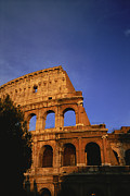 Ruins And Remains Prints - The Colosseum Lit By The Late Day Sun Print by Taylor S. Kennedy