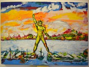 Portfolio Paintings - The Colossus of Rhodes by Ben Schneider