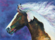 Abstract Equine Paintings - The Coloured Cob by Terry Kirkland Cook