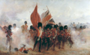 Military Uniform Paintings - The Colours by Elizabeth Southerden Thompson