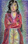 Posing Pastels Framed Prints - The colours of a young mother Framed Print by Simon Rai