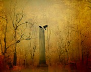 Gothic Crows Framed Prints - The Column Framed Print by Gothicolors And Crows