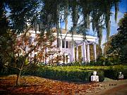 Southern Plantation Paintings - The Columns by Shirley Braithwaite Hunt