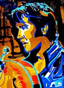 Elvis Portrait Paintings - The Comeback Special by Ax Fine Arts  Prints On Demand